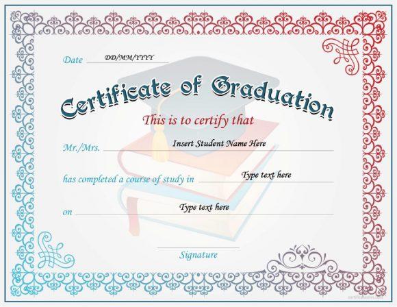 Certificate Of Graduation Template from printabletemplates.com