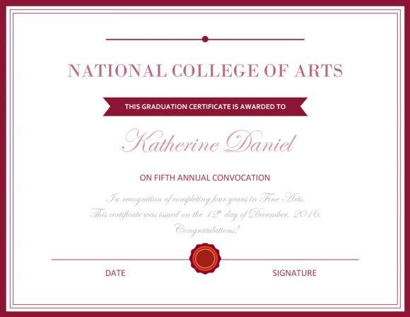graduation certificate 20