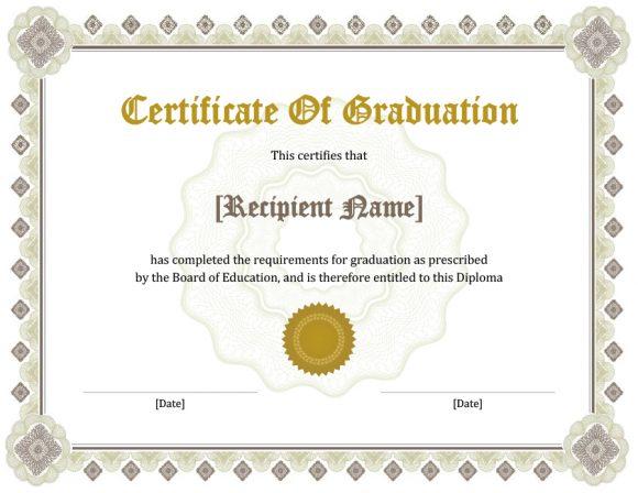 graduation certificate 21
