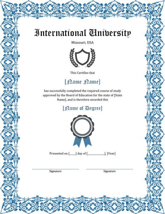graduation certificate 22