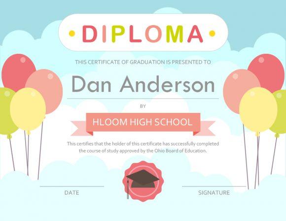 graduation certificate 24