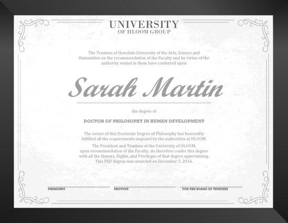 graduation certificate 25