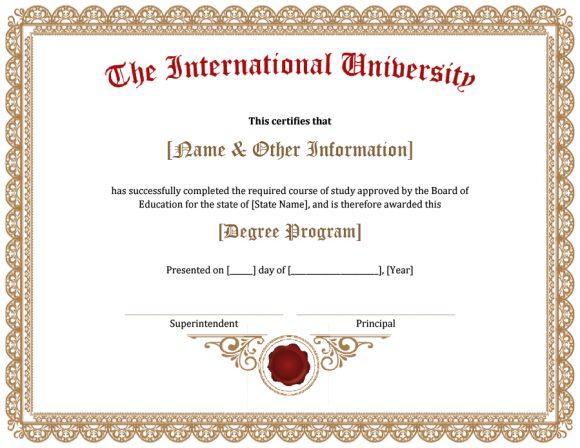 graduation certificate 27