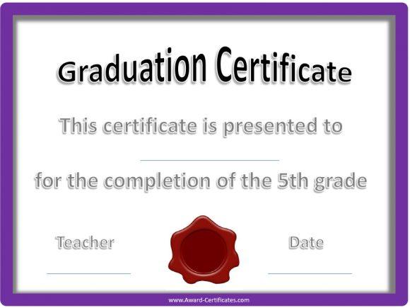 graduation certificate 29