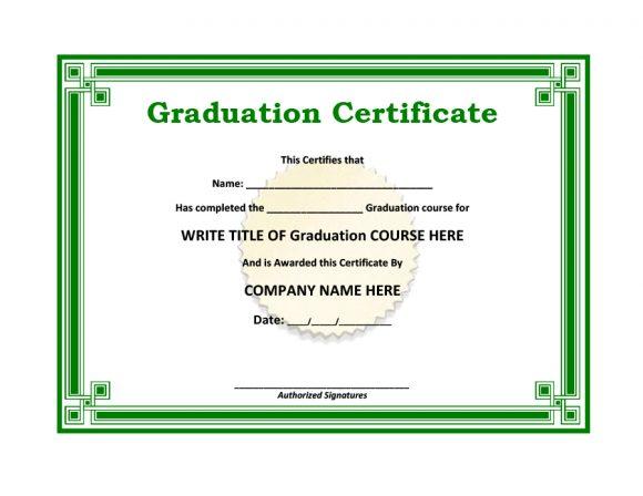 graduation certificate 36