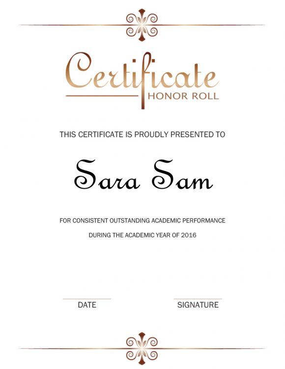 honor roll certificate 02