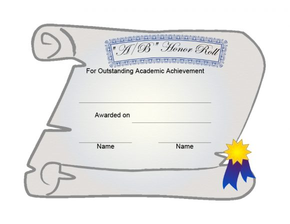 honor roll certificate 07