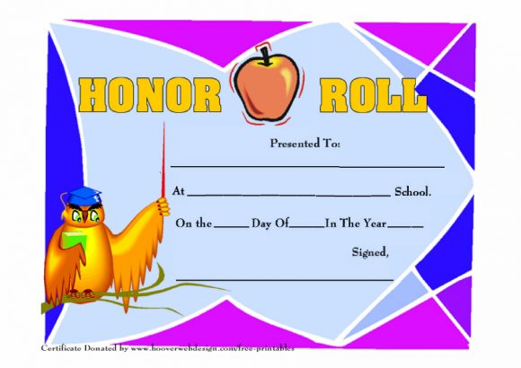 honor roll certificate 15