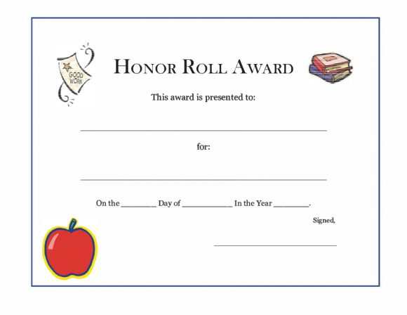 honor roll certificate 21