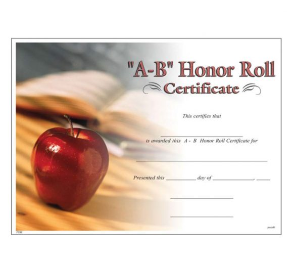 honor roll certificate 22