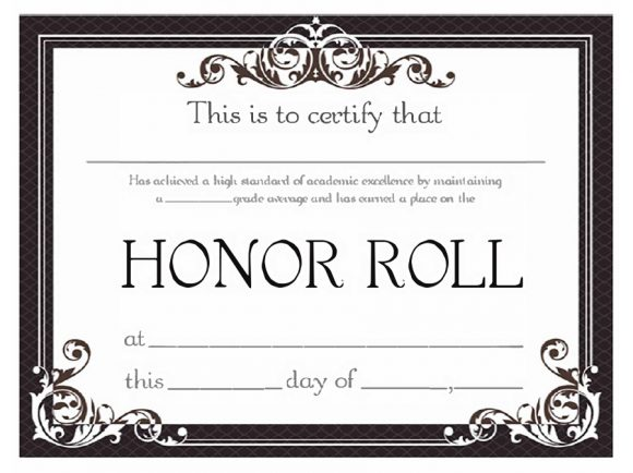 honor roll certificate 29