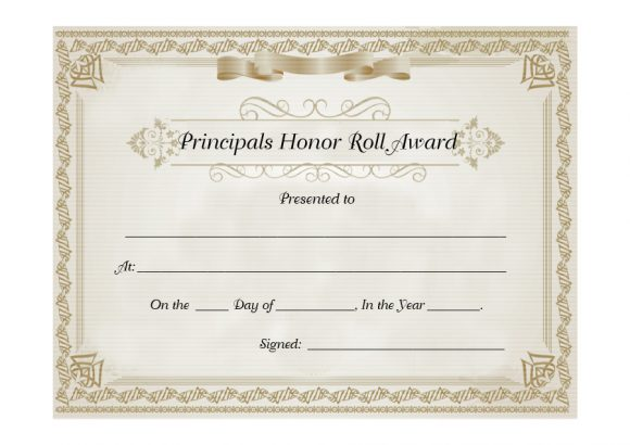 honor roll certificate 30