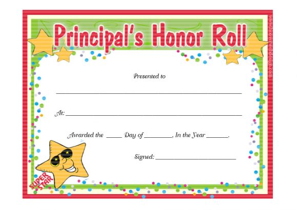honor roll certificate 36