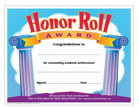 honor roll certificate 40