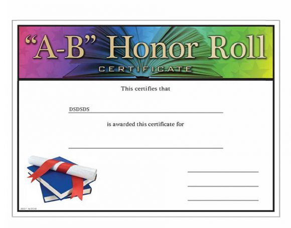 honor roll certificate 41