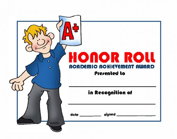 honor roll certificate 42