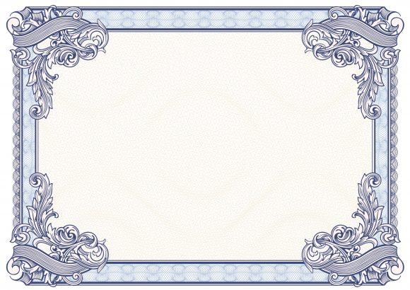 certificate border 34