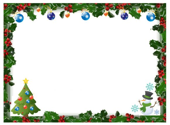graphic about Printable Christmas Borders known as 40+ No cost Xmas Borders and Frames - Printable Templates