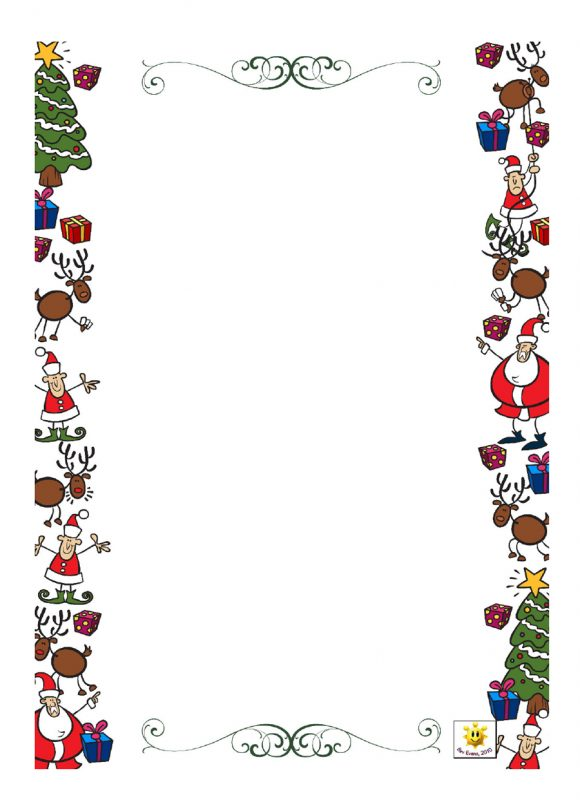 40+ FREE Christmas Borders and Frames - Printable Templates Christmas Letter Borders Templates on