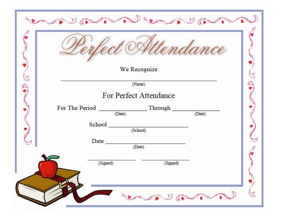 perfect attendance award 09