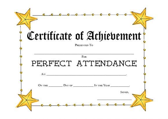 perfect attendance award 10