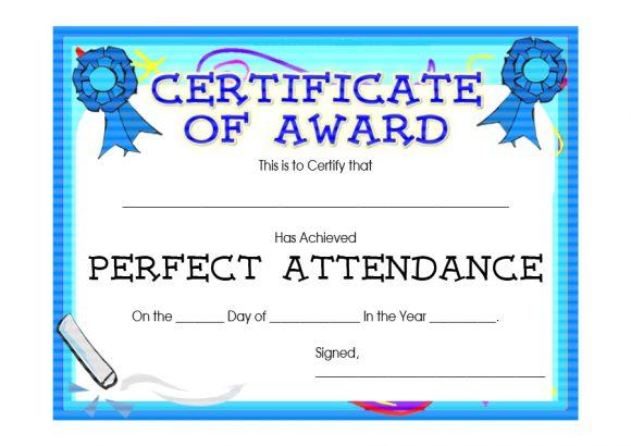 perfect attendance award 12