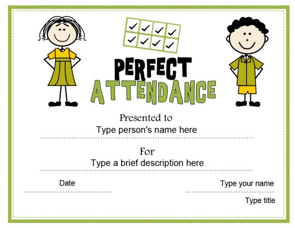 perfect attendance award 13
