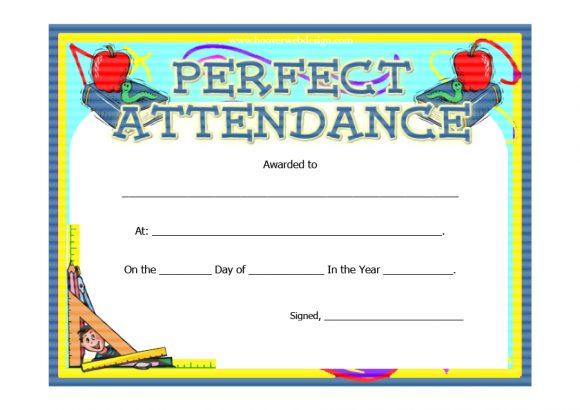 perfect attendance award 16