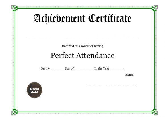perfect attendance award 17