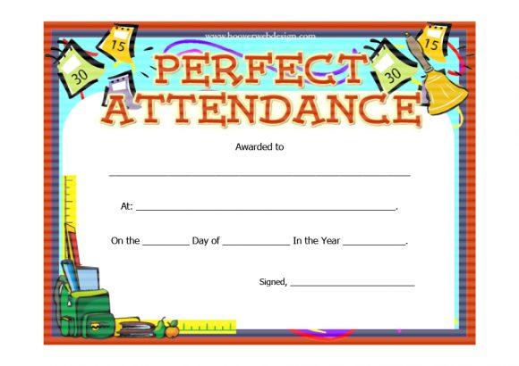 perfect attendance award 18