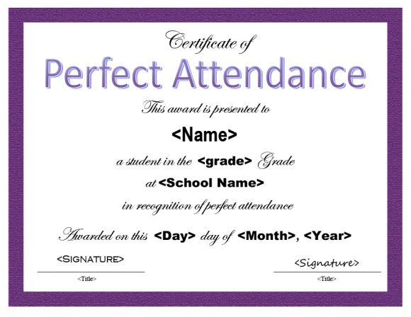 perfect attendance award 19