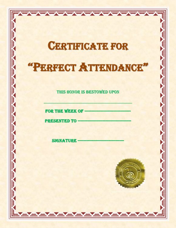 perfect attendance award 20