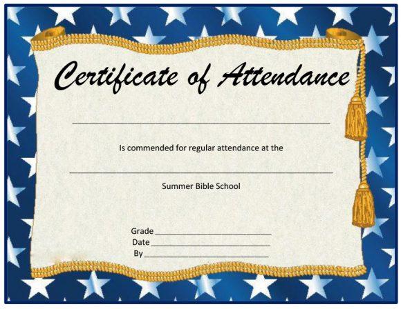 perfect attendance award 22