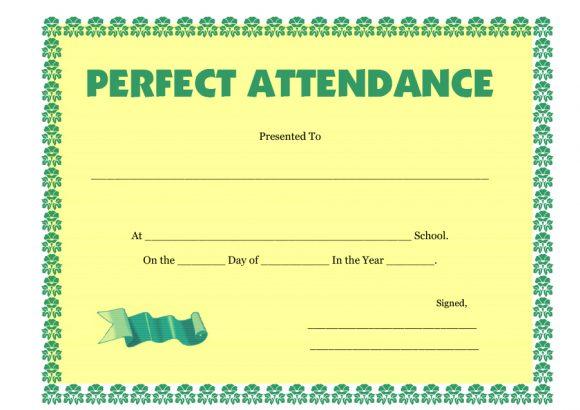 perfect attendance award 25