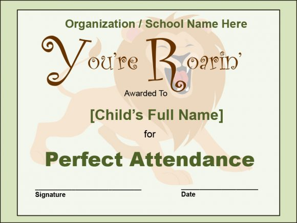 perfect attendance award 26
