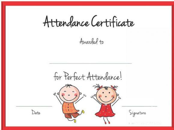 perfect attendance award 27
