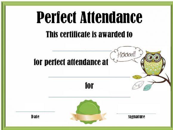 perfect attendance award 28