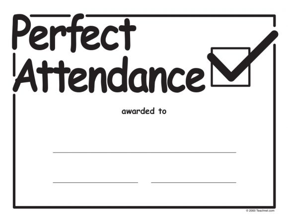 perfect attendance award 30