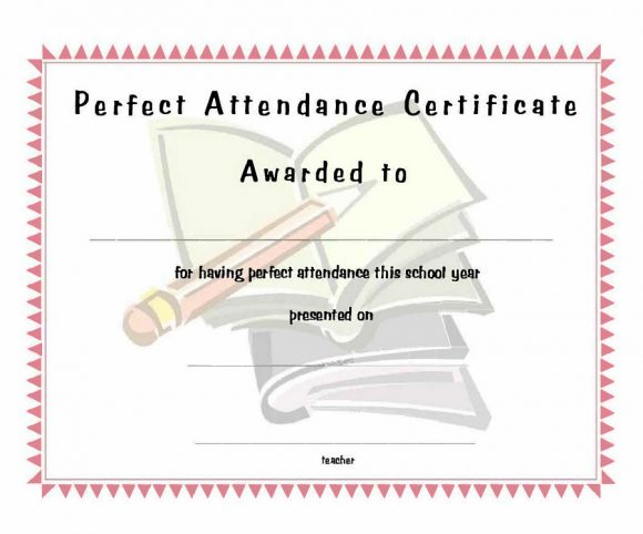 perfect attendance award 34