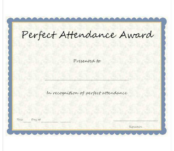 perfect attendance award 37