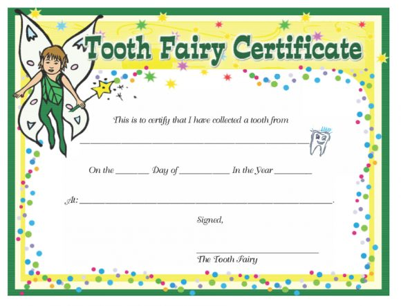 image regarding Free Printable Tooth Fairy Certificate named 37 Teeth Fairy Certificates Letter Templates - Printable