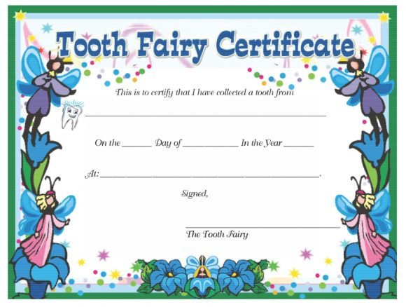 37 tooth fairy certificates amp letter templates printable