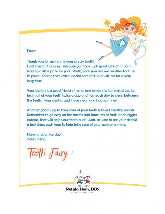 photo regarding Tooth Fairy Stationary named 37 Enamel Fairy Certificates Letter Templates - Printable