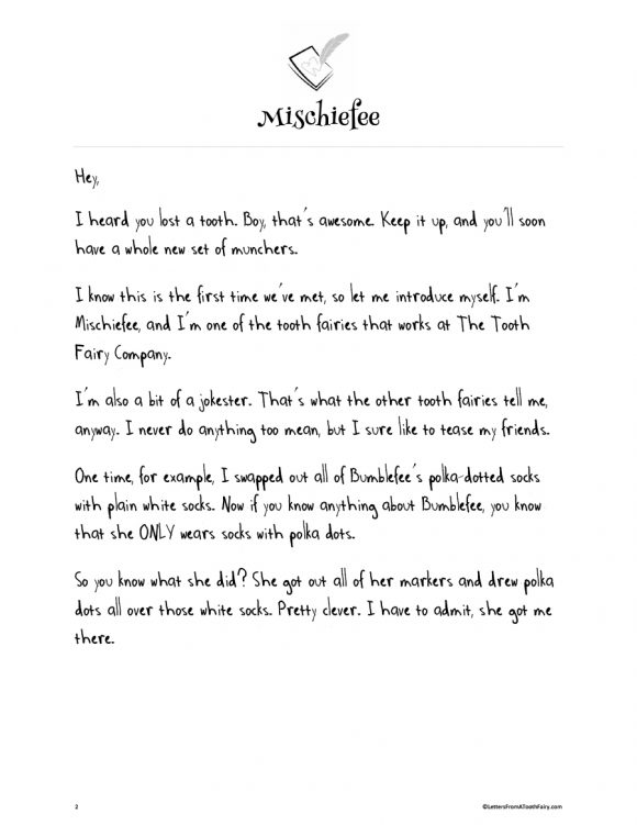 tooth fairy letter 11