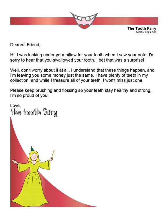 tooth fairy letter 19