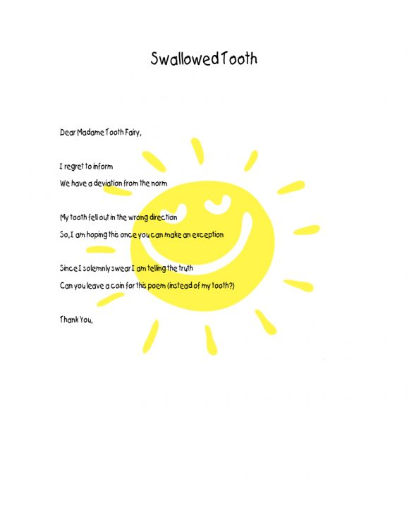 tooth fairy letter 20