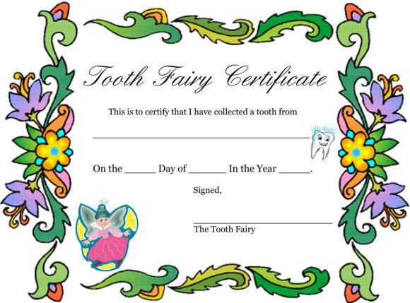image relating to Free Printable Tooth Fairy Certificate named 37 Enamel Fairy Certificates Letter Templates - Printable