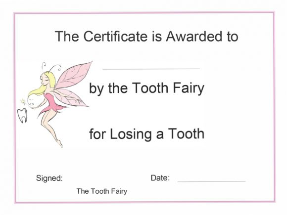 photo relating to Tooth Fairy Stationary named 37 Enamel Fairy Certificates Letter Templates - Printable