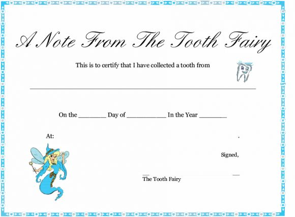 37 Tooth Fairy Certificates & Letter Templates - Printable