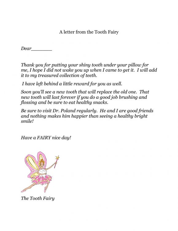 photo regarding Free Printable Tooth Fairy Letters referred to as 37 Teeth Fairy Certificates Letter Templates - Printable